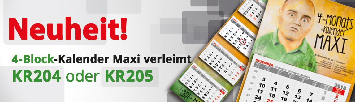 Kalender 2019 - MAXI 4-Block