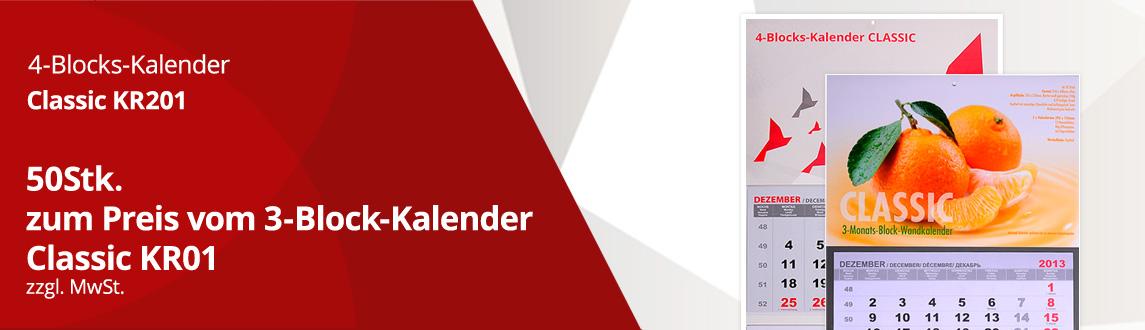 Kalender 50Stk. Aktion