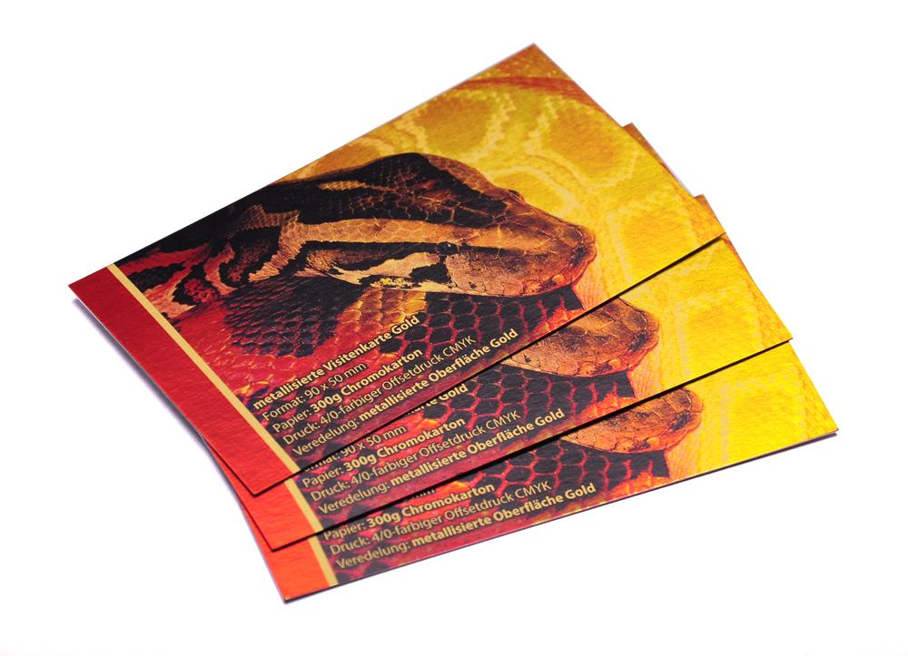 Visitenkarten Mit Metallic Effekt Gold Und Partiellem Uv Lack