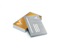 Visitenkarten mit Metallic-Effekt