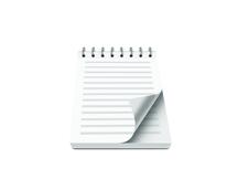 Schreibblöcke mit Umschlag und Spiralbindung