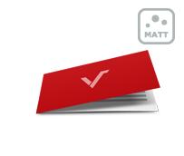 Klappkarten mit einseitiger Mattfolie