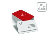 Mediacards mit einseitiger Glanzfolie