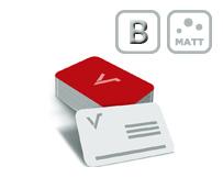 Mediacards mit beidseitiger Mattfolie und mit Blindprägung