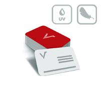 Mediacards mit Softtouch-Folie und partiellem UV Lack