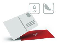 Postkarten mit Softtouch-Folie und UV Lack