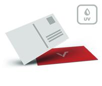 Postkarten mit Mattfolie und UV Lack