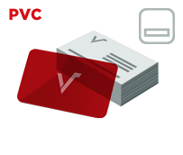 Mediacards PVC mit Beschriftungsfeld