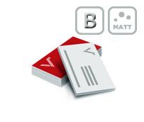 Visitenkarten mit beidseitiger Mattfolie und Blindprägung