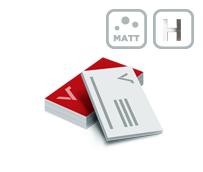 Visitenkarten mit Mattfolie und Heißfolienprägung