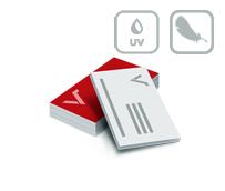 Visitenkarten mit Softtouch-Folie und partiellem UV Lack