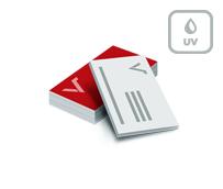 Visitenkarten mit Mattfolie und partiellem UV Lack