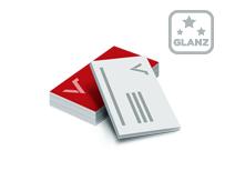 Visitenkarten mit einseitiger Glanzfolie